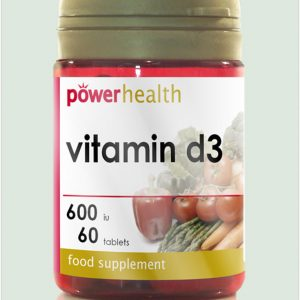 Vitamin D3 600IU/15mg 60's