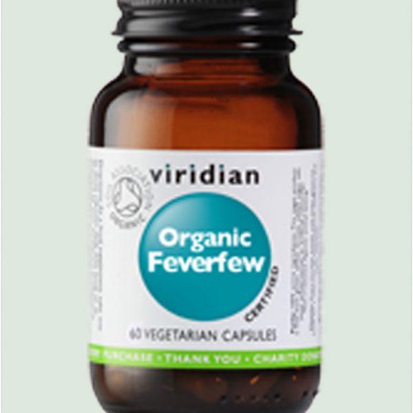 Organic Feverfew Leaf Extract 350mg 60 caps