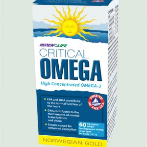 Norwegian Gold Critical Omega 60 fish gel