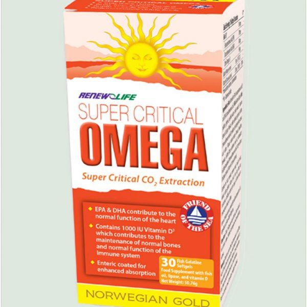 Norwegian Super Gold Critical Omega 60 fish gel