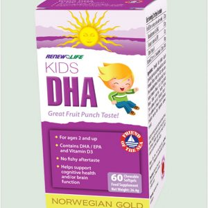 Norwegian Gold Kids DHA 60 chewable softgels