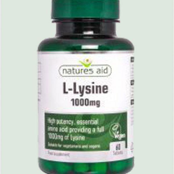 L-Lysine 1000mg 60tablets