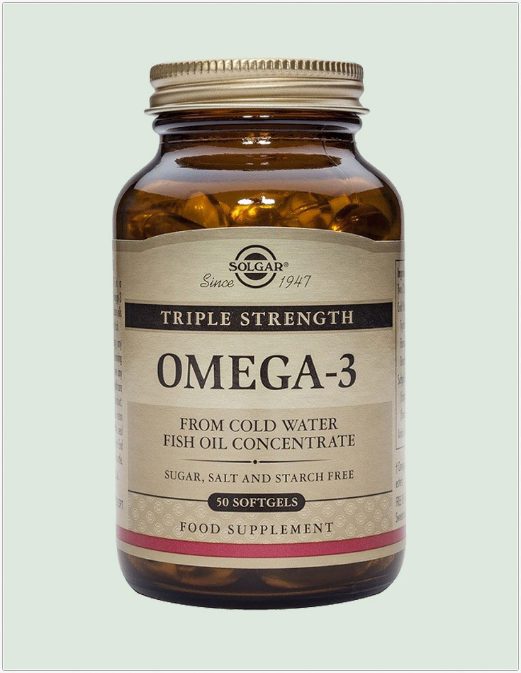 Solgar triple strength omega 3 fish oil 50 softgels for Viva naturals triple strength omega 3 fish oil